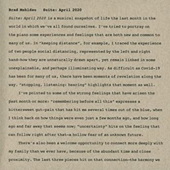Brad Mehldau - Suite April 2020 (2020)